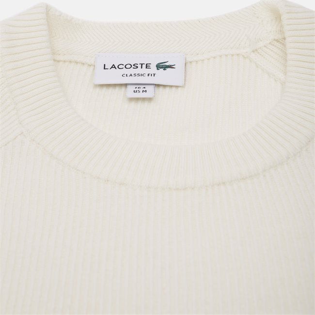 Crew Neck Ribbed Wool Blend Sweater